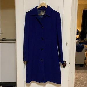 J.Crew Lady Day Coat in Royal Blue